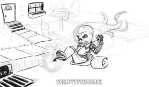 WIP - Ghost Big Wheel Rider pt2 by ScruffyScribbler