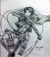 Levi Rivaille of Shingeki No Kyojin by Kruzaldi