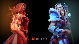 Dota 2 - Lina Crystal Maiden Wallpaper by GlowyKangaroo