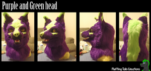 SOLD Purple Canine Head turn around by FluffingTailsC