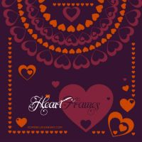 Heart Frames Brushes by Romenig