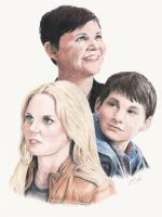 OUAT: Emma, Snow, and Henry by LMColver