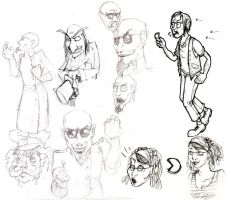 Doodles - Humans by frenzee