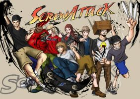 Screwattattack poster by DotWork-Studio