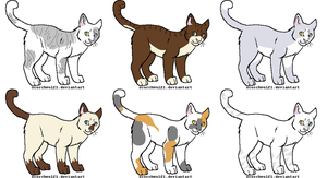 Warrior Cat Free Adoptables! (CLOSED) by Lunacat1