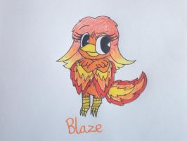 HTF OC: Blaze the Phoenix by RussellMimeLover2009