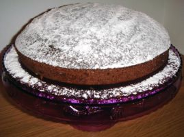 Chocolate and almond cake by kivrin82