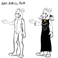 Boss Asriel Plush concept art (UT SPOILER WARNING) by Skeleion