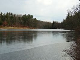 Laurel Lake In Winter 02 by TemariAtaje