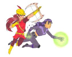 Young Justice!! Speedy y NightStar by BobsCookie