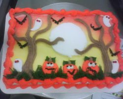 halloween theme cake 2 by nlpassions