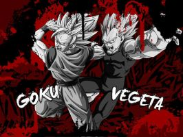 Wallpaper Goku / Vegeta by Dony910
