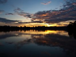 Angkor sunset - 5 by Runfox