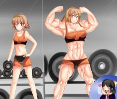 Hibiki's Been Hitting Those Weights - SaintxTail by kaisai134
