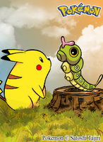 Pokemon: Pikachu y Caterpie