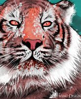 Vector - illustration: Tiger By Venc Design by victordleon