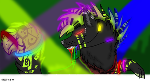 .:COMMISSION:. RAVE FERRET46 by xRainbowDawnx