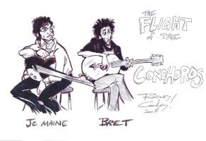 The Flight of the Conchords by rodbcon
