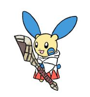 Minun White Mage? by sunnyfish