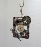 SOLD - Steampunk Time Holiday Ornament by 2ndWindAccessories