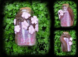 Cherry Blossom mini bottle in my Etsy store! by CreaturesofNat