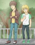 casual Jean and Armin by Hannah-MK
