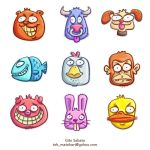 9 Loony Animals Icon Pack -Mac by jongky