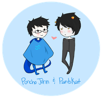Poncho John and PantsKat by Vampirechic1612