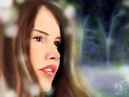 iPad finger painting: Wistful winter by chaseroflight