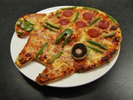 Millennium Falcon Pizza by mikedaws