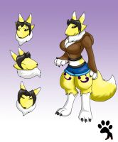 Michael's Form of Renamon by Big-Wolf