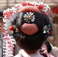 Geisha hair by my-sweet-A7X