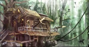 Treehouse Exterior by JamesChoe