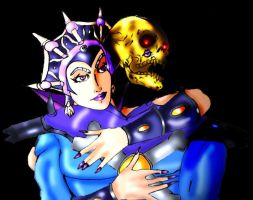 Skeletor and Evil-lyn by Vengerin