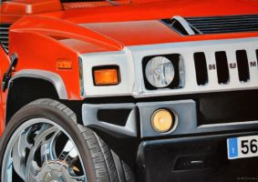 Hummer H2 Red by marcoamore