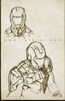 Iron Man sketch 02 by rafater