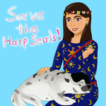 [Commission] Save the Harp Seals! by Oswaldnjenny