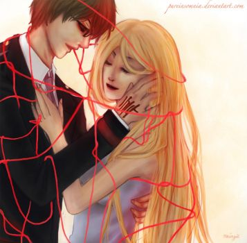 Red string of Fate by PureInsomnia