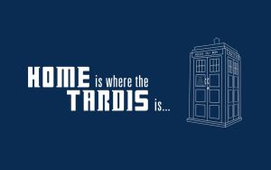 HOME is where the TARDIS is by Raiyca