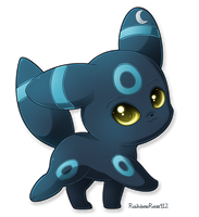 Commission: Shiny Umbreon by RainbowRose912