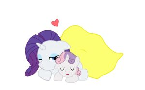 Rarity and Sweetie Belle by buckheadgar