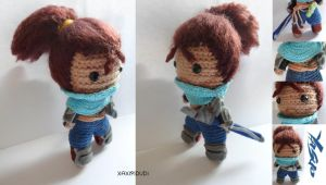 Amigurumi Yasuo League Of Legends by Xaxipidudi