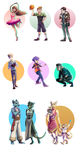 Practice_doodles_cartoon_characters_September_2015 by Blookarot