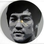 Bruce Lee Vinyl Clock by Gcrackle1