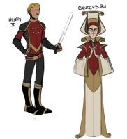 henry v and canterbury designs by LessienMoonstar