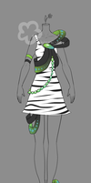 Zebra Dress Auction - closed by Nahemii-san