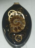 Spoon Steampunk with Ammonite by Phoenix-Cry