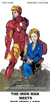 THE IRON MAN MEETS THE IRON LADY by MarcoCalosci
