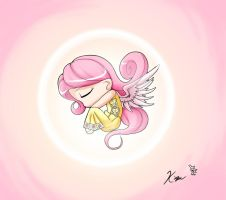 Fanart: Petit pegasus feathers of pink by Kei-Waza