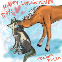 Wolf Link and Epona Valentines by deluxepizza